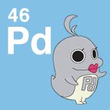 46 Pd パラジウムのイラスト