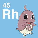 45 Rh ロジウムのイラスト