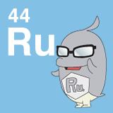 44 Ru ルテニウムのイラスト